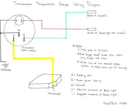 auto gauge wiring diagram water temp - wiring diagram bots