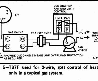 2 Wire Thermostat Wiring Diagram Heat Only Most Gas