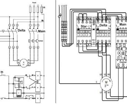 3 Phase Motor Starter Wiring Diagram Star Delta Top Wiring