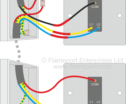 wiring diagram for double 2 way light switch