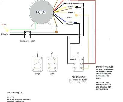 Electric Motor Wiring Diagram, To 110 Simple 220 To