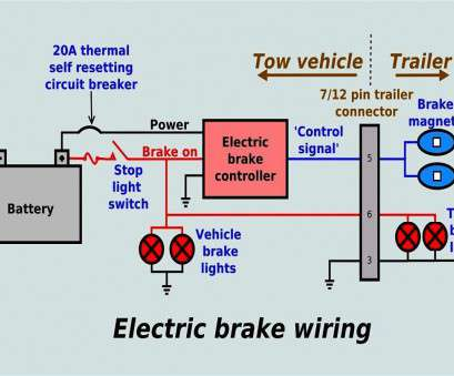 wiring diagram for electric brakes on trailer