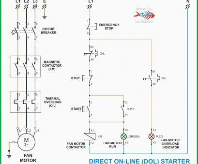 3 phase contactor wiring diagram start stop ge z wave way switch motor electrical online l t starter practical fasd automation push button