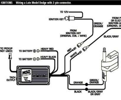 Msd, Wiring Diagram Chrysler Top Msd Ignition, Voltage