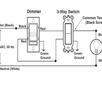 Three, Switch With Dimmer Wiring Diagram Popular Lutron