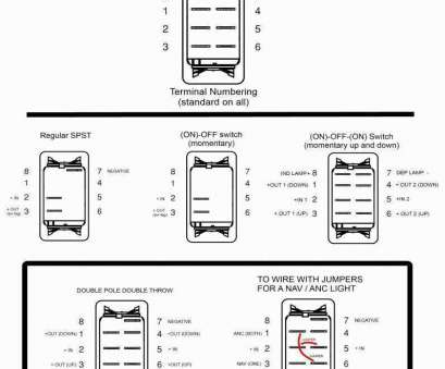 7 Pin On Off On Rocker Switch Wiring Diagram