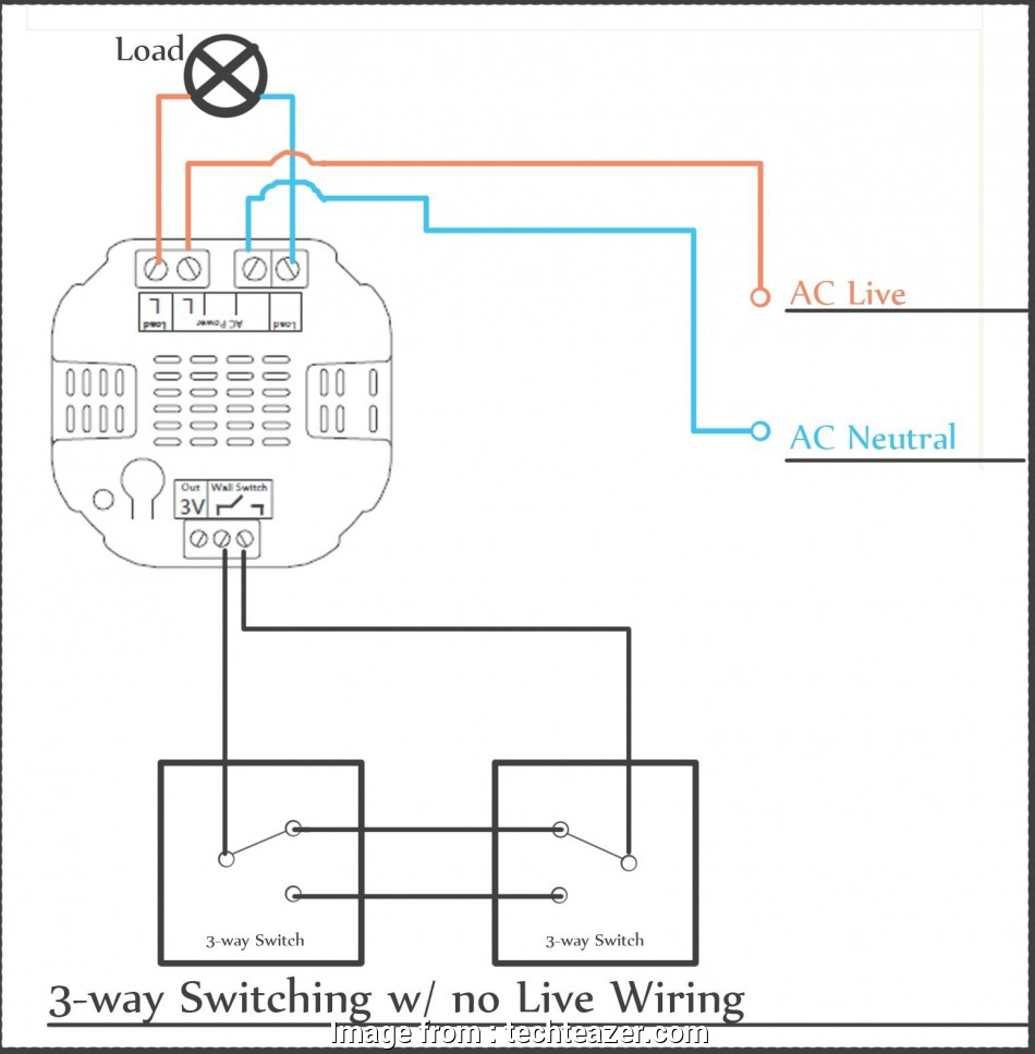 Wiring Diagram 3, Switch Split Receptacle Brilliant Wiring