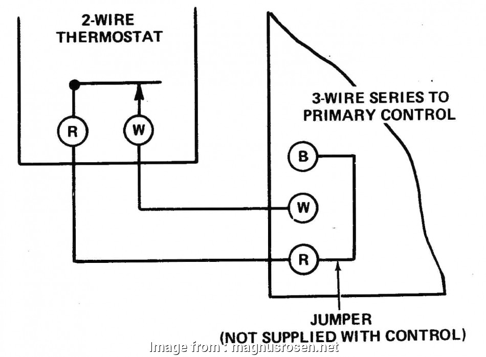 Wiring Diagram Of Thermostat Brilliant Two Wire Thermostat