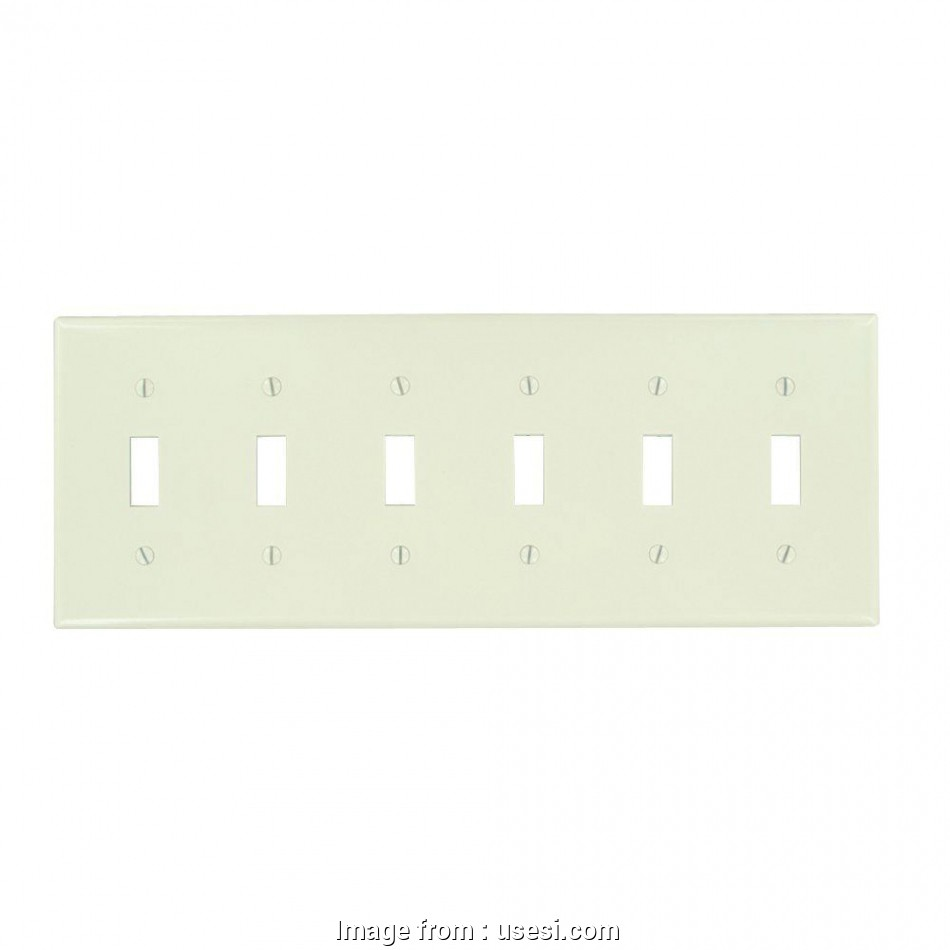 hight resolution of wiring a 6 gang light switch leviton 78036 t thermoset plastic device mount standard size