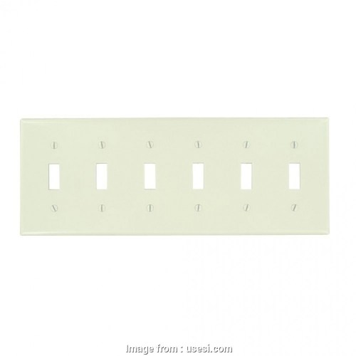 small resolution of wiring a 6 gang light switch leviton 78036 t thermoset plastic device mount standard size