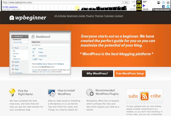 Sitio web antiguo de Wayback Machine