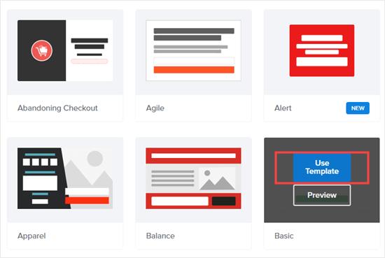 Haga clic para usar la plantilla básica para su ventana emergente al hacer clic