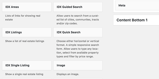 Widgets IDX