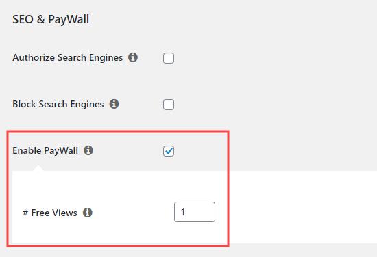 Habilitar la función de muro de pago en MemberPress