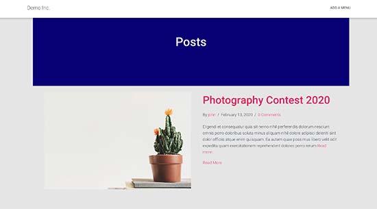 Plantilla de página de blog