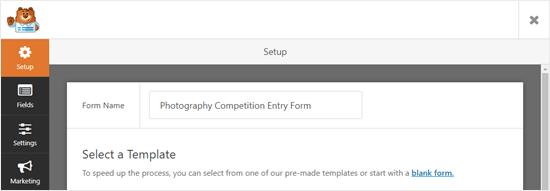 Dar un nombre a su formulario en WPForms