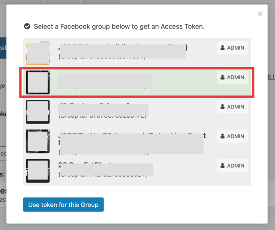 Conecta tu grupo de Facebook