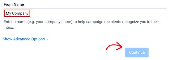 Ingrese el correo electrónico del nombre