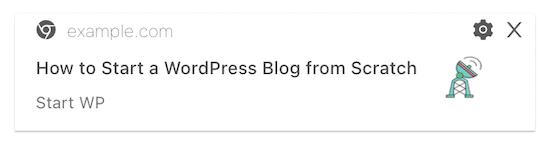 Ejemplo de notificación de publicación de PushEngage