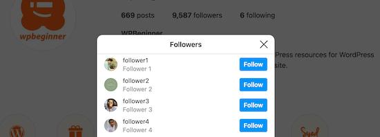 Ver seguidores de Instagram