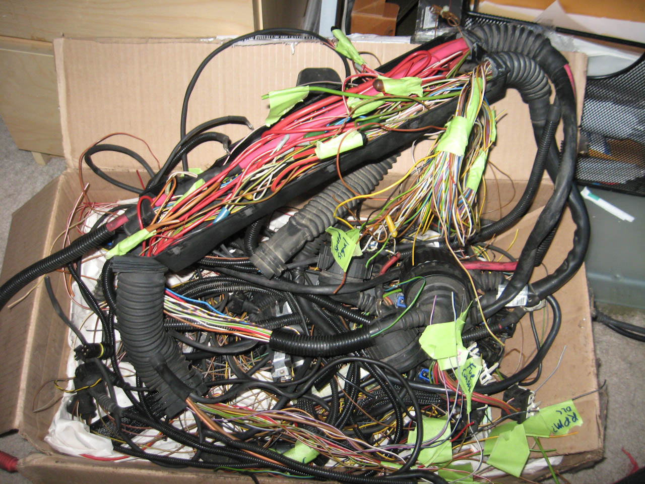 hight resolution of this is what i have to go to the pcm area i left the various emissions related stuff in there as well so i don t have to find the wires later