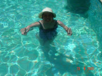 In the pool