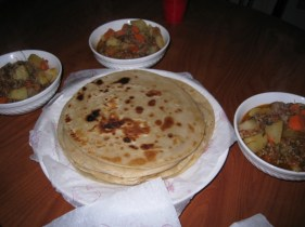 Chapati prepared by Irene and Peter