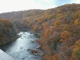 ถ่ายจาก High Bridge ใน Ohiopyle State Park, PA