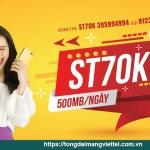 gói cước ST70K miễn phí 15GB, miễn phí truy cập tiktok