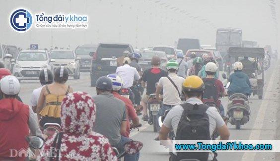 ô nhiễm không khí ở hà nội