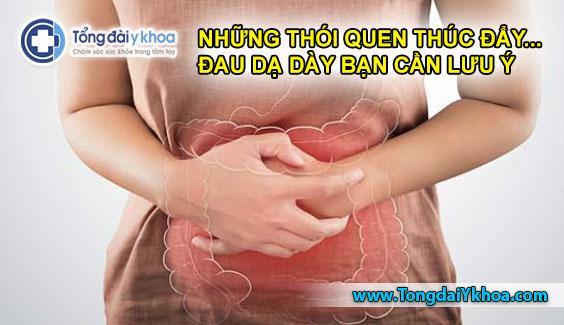 thói quen gây đau dạ dày đau bao tử