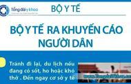 Khuyến cáo mới nhất của Bộ Y tế về phòng chống dịch bệnh do virus nCoV