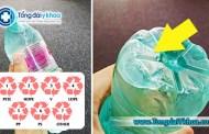 Chai nhựa có 1 trong 3 ký hiệu sau - Tuyệt đối không tái sử dụng