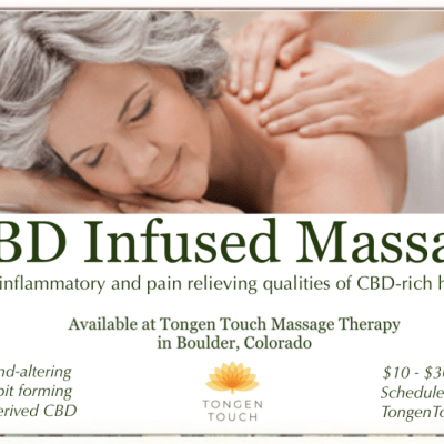 CBD Massage in Boulder, Colorado, Tongen Touch Massage Therapy