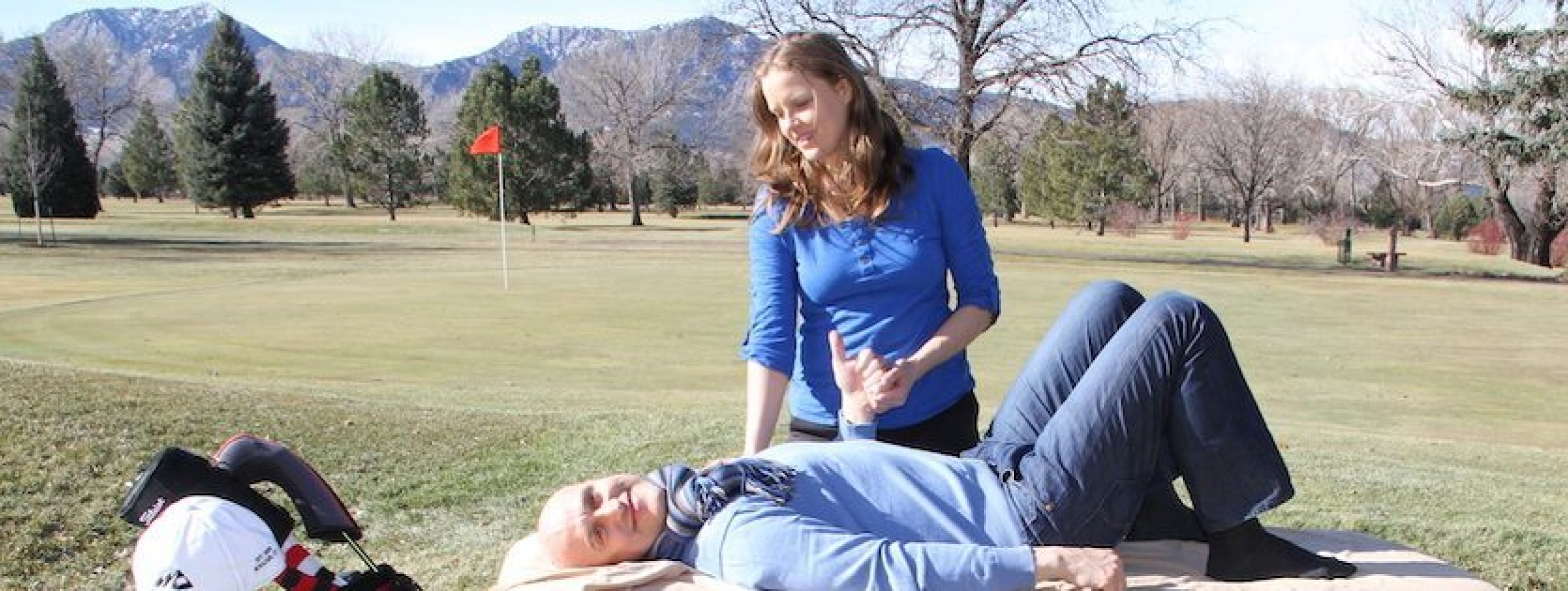 Massage in Denver massage for golf swing assisted stretching