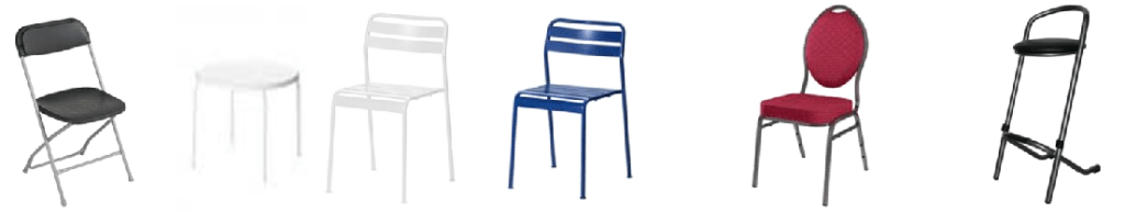 alle stoelen