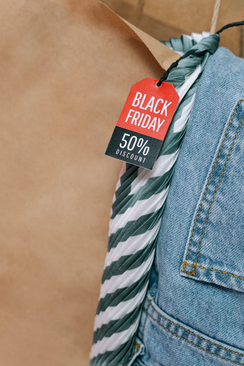 blue denim jeans with tag