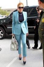 Lindsay Lohan, on her way to court.