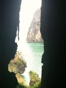 View of Phra Nang Beach from viewpoint/bat cave