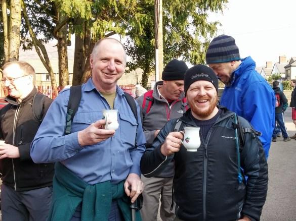 Ton 3 Peaks walk tea drinkers