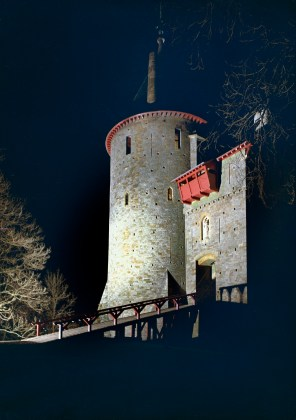 View of Castell Coch at night, 1974