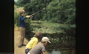 Young fishermen. Whitchurch canal. 24/7/71