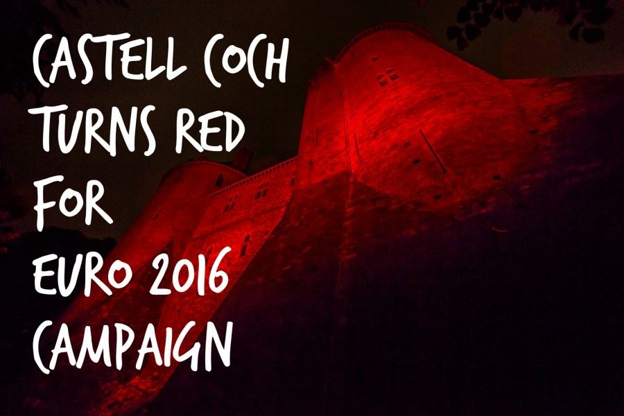 Castell Coch turns red for euro 2016 campaign header