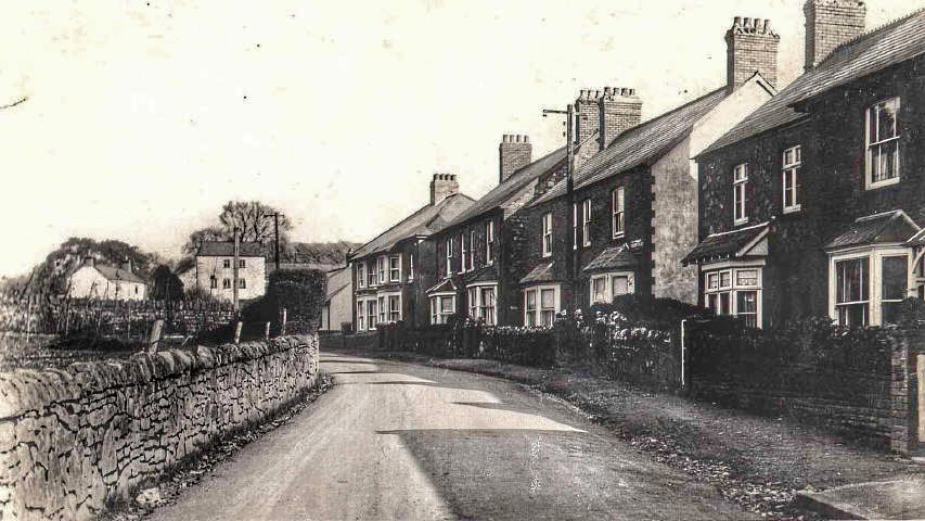 Old photo of Castle Road, Tongwynlais