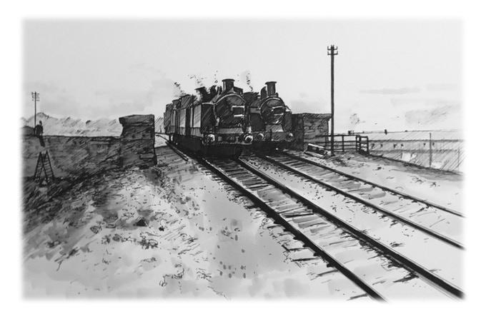 Retracing The Cardiff Railway art print