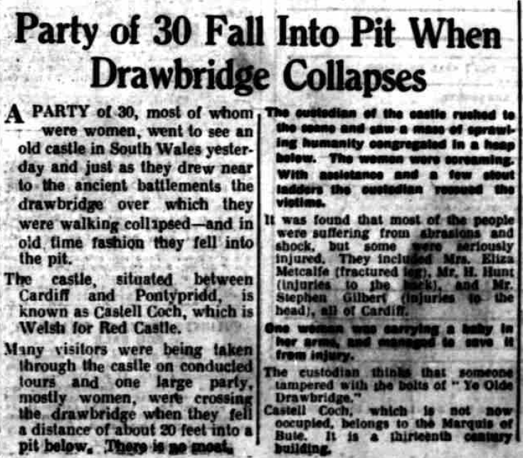 News story from the Birmingham Gazette from 1936