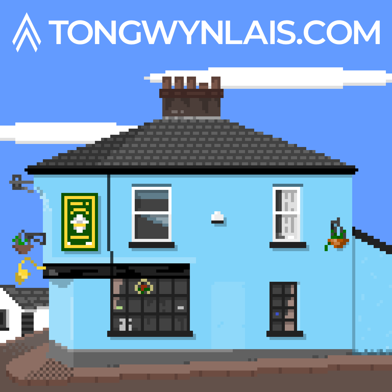 Pixel art illustration of Tongwynlais Rugby Club