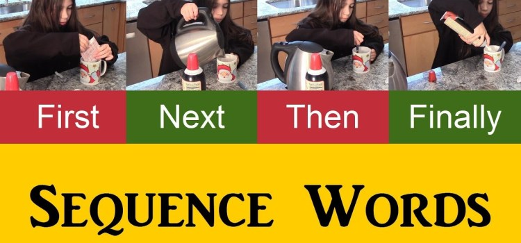 Using Sequence Words – first, next, then, finally