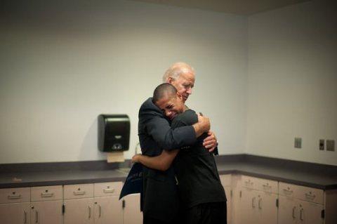 Vice President Biden with 15-year-old Kobe Groce, Nov. 2012