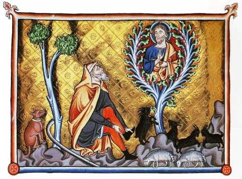 Moses and the burning bush, manuscript not cited